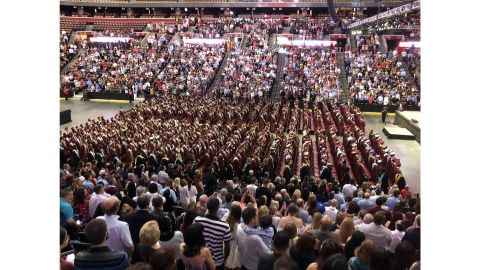 Students attend graduation at the BB&T Center on Sunday, June 3, 2018.