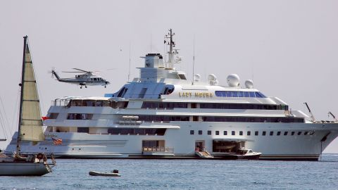 """Lady Moura, owned by Saudi Arabian businessman Nasser Al-Rashid, sparked a beach pollution alert at the Cannes Film Festival in 2007 <a href=""""https://www.superyachttimes.com/yacht-news/the-grounding-of-lady-moura-during-the-cannes-film-festival"""" target=""""_blank"""" target=""""_blank"""">after colliding with rocks</a> as it was navigating a short distance offshore."""