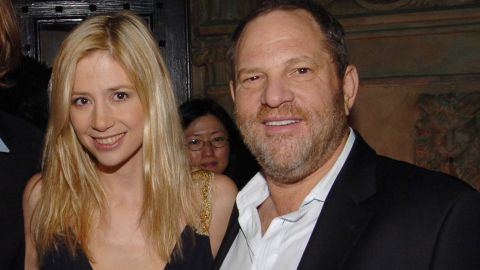 LOS ANGELES, CA - JANUARY 14: (L-R) Chris Backus, Mira Sorvino and Harvey Weinstein attend HBO's Annual Pre-Golden Globes Party hosted by Colin Callender, Chris Albrecht and Carolyn Strauss at Chateau Marmont on January 14, 2006 in Los Angeles, CA. (Photo by Billy Farrell/Patrick McMullan via Getty Images)