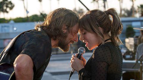 "Bradley Cooper and Lady Gaga star in ""A Star is Born."""