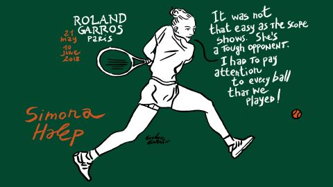 World No.1 Simona Halep is bidding for a first grand slam title after three previous losing final appearances in majors.
