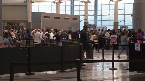 Toy grenade found in Boy Scout's bag shuts down security checkpoint at Hobby Airport in Houston, TX.