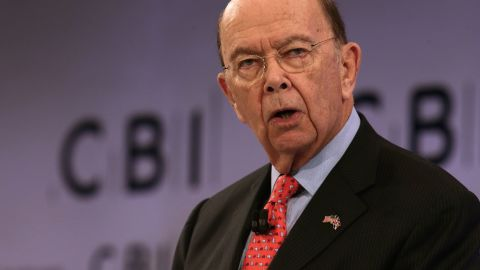 US Secretary of Commerce, Wilbur Ross addresses delegates at the annual Confederation of British Industry (CBI) conference in east London, on November 6, 2017. / AFP PHOTO / Daniel LEAL-OLIVAS        (Photo credit should read DANIEL LEAL-OLIVAS/AFP/Getty Images)