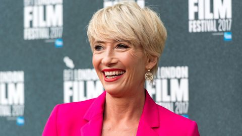 LONDON, UNITED KINGDOM - OCTOBER 06: Actress Emma Thompson attends The Meyerowitz Stories' UK premiere within The London Film festival in London, United Kingdom on October 06, 2017. (Photo by Ray Tang/Anadolu Agency/Getty Images)