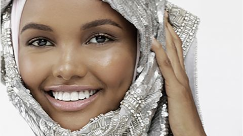 Halima Aden, the first hijabi model to grace fashion's top runways.