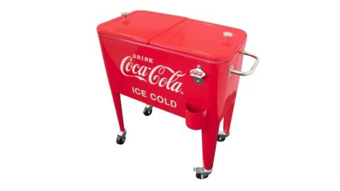 60-Qt Coca-Cola Ice Cold Heavy Duty Rolling Cooler