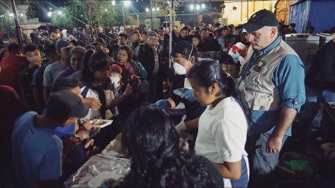 José Andrés and his team delivering food in Alotenango.