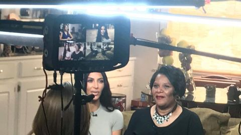 """Kim Kardashian West meets Alice Johnson during interview to air on NBC's """"Today"""" show."""