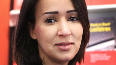 File photo of Saudi women's rights activist and author Manal al-Sharif.