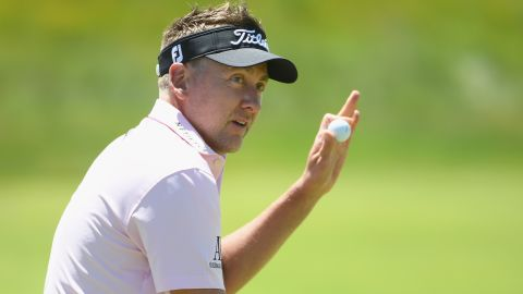 """Englishman Ian Poulter was another on one under despite labeling it """"extremely difficult."""""""
