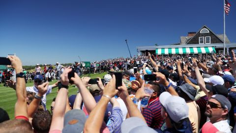 Former world No.1 Tiger Woods, playing his first US Open since 2015 after back surgeries, drew huge crowds at the historic Hamptons venue.