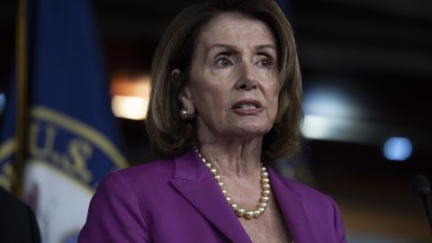 House Minority Leader Nancy Pelosi,  (D-CA) speaks during a news conference held by House Democrats condemning the Trump Administration's targeting of the Affordable Care Act's pre-existing condition, in the US Capitol on June 13, 2018 in Washington, DC. (Toya Sarno Jordan/Getty Images)