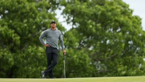 Woods, the champion 10 years ago, was looking to make amends for a poor opening round but the three-time winner slipped further back in his first US Open since 2015.