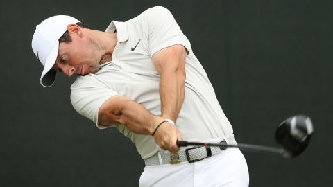 Rory McIlroy improved on his opening 80 with a round of 70 but still missed the cut by two Friday.