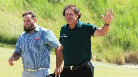 """Mickelson's playing partner Andrew Johnston said he had never seen a situation like that before. """"His body acted quicker than his brain,"""" he told BBC Radio 5 Live."""