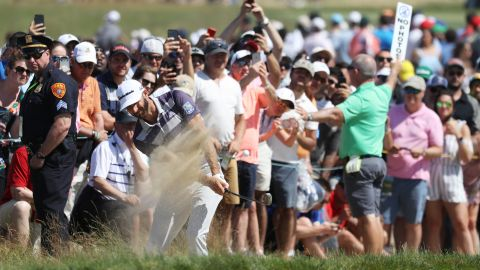 Dustin Johnson led by four overnight but endured some mid-round demons before fighting back. The world No.1 goes into Sunday's final round in a four-way tie for the lead with Brooks Koepka, Daniel Berger and Tony Finau.