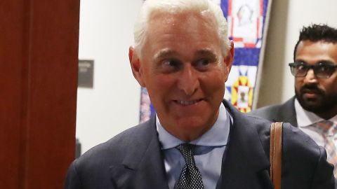 WASHINGTON, DC - SEPTEMBER 26:  Roger Stone, former confidant to President Trump walks out of the House Intelligence Committee closed door hearing, September 26, 2017 in Washington, DC. The committee is investigating alleged Russian interference in the 2016 U.S. presidential election.