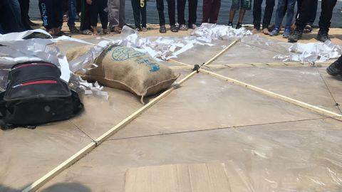 CNN witnessed this kite being made in Gaza last week.