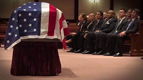 LeValley was buried in a military ceremony at Quantico National Cemetery on Friday.