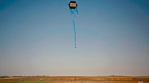 The use of kites by Gazan demonstrators has increased significantly in recent weeks.