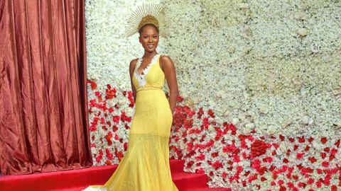 Actress Jemima Osunde wearing designer Zhena's Closet.