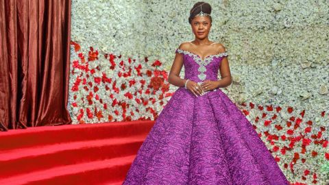 Nollywood actress Omoni Oboli wore the Nigerian Elegante by Tiannah label at the premiere.