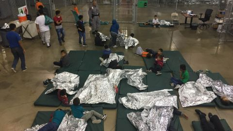 Customs and Border Patrol released the below pictures from McAllen, Texas detention facility.  In using these pictures, CNN networks need to state that though media was able to tour the facility earlier today, they were barred from shooting any pictures or video, CPD cited privacy concerns as the reason.
