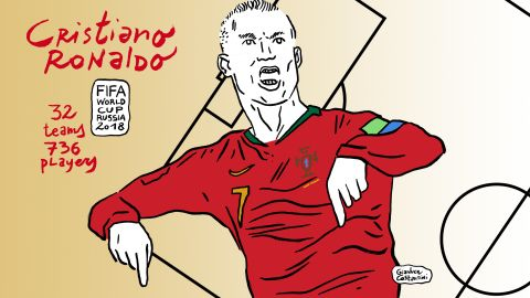 Cristiano Ronaldo had a barnstorming start to the 2018 World Cup scoring a hattrick in the 3-3 draw against Spain. His third goal was a stunning free-kick in the closing minutes that ensured Portugal secured a point from the game.