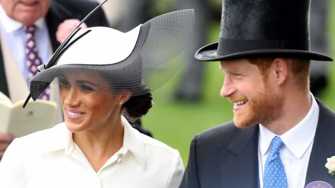 Meghan, Duchess of Sussex, and Prince Harry, Duke of Sussex, attended the opening day of Royal Ascot in Berkshire, west of London in 2018.