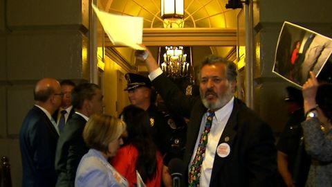 congressman protest
