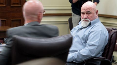 Frankie Gebhardt looks into the gallery during his trial in June.