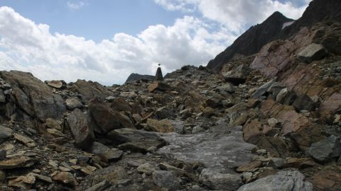 This is the Tisenjoch pass in the Val Senales valley<strong> </strong>of South Tyrol where Otzi was found by a German couple hiking while on vacation.