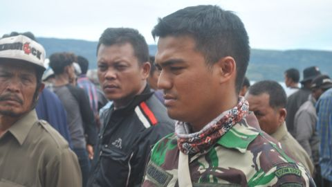 First Sergeant Surya Dharma was one of the first military personnel on the scene at Lake Toba.