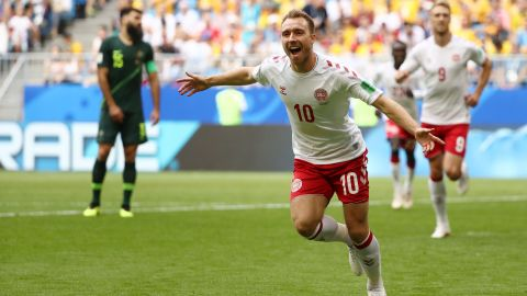 Eriksen scored a stunning goal but was largely quiet in the match.