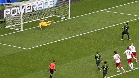 Jedinak also scored from the spot in Australia's opening game defeat against France