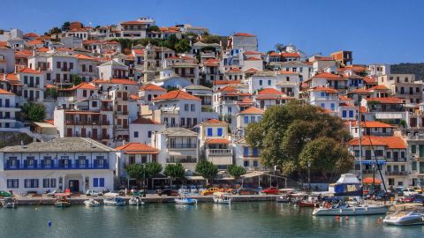 <strong>Greece, Skopelos: </strong>The Sporades area north of Athens offers exhilarating sailing, remote anchorages and attractive towns such Skopelos, film set for Mama Mia.