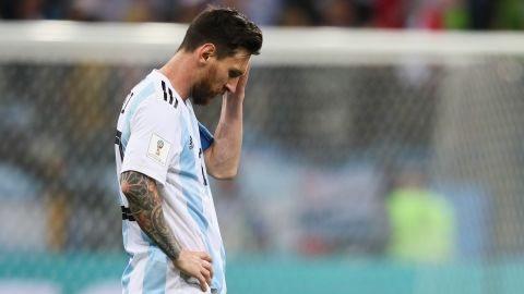 An oddly subdued Messi had fewer than 50 touches all game and only managed one shot on goal.