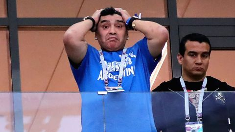 Diego Maradona's initially optimistic disposition quickly turned as Argentina lost 3-0 to Croatia in Group D on Thursday.