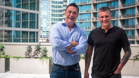 Ben's Friends founders Steve Palmer, left, and Scott Crawford have hosted alcohol-free spaces at food and wine festivals.