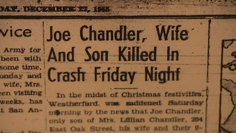 A newspaper article from December, 1945 about Joseph Chandler's death.
