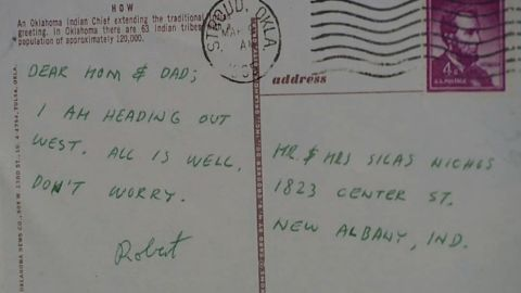 A postcard from Robert Nichols to his parents in 1965 from Stroud, Oklahoma.