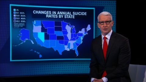 Anderson Cooper at a CNN Town Hall on Suicide prevention