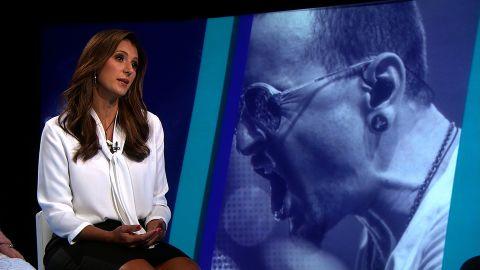 Talinda Bennington at a CNN Town Hall on Suicide prevention