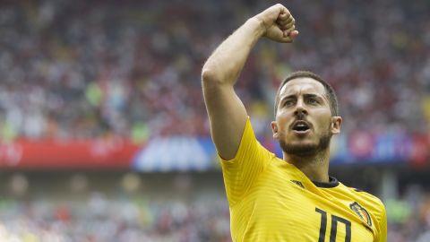 Captain Eden Hazard also scored two for Belgium.