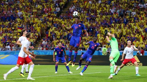 Colombian defender Yerry Mina opened the scoring with a header in the first half.