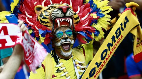 A Colombia fan before the Poland match.