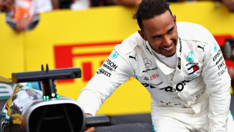 Hamilton -- 145 points<br />Vettel -- 131 points<br />Ricciardo -- 96 points