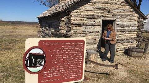 """The cabin at the """"Little House on the Prairie"""" site is a re-creation built in 1977"""