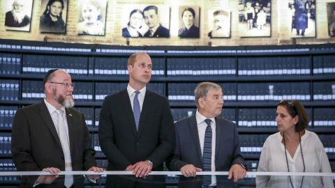 Prince William visited the Yad Vashem Holocaust Memorial Museum on Tuesday.