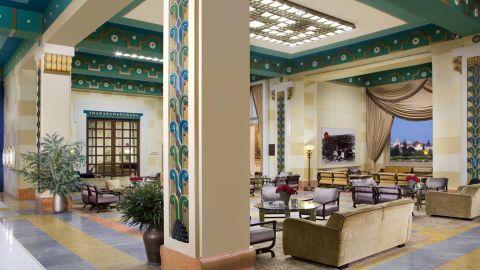 Inside the hotel's opulent lobby.